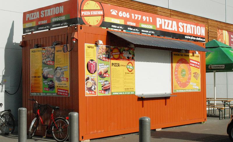 Realizace grafických návrhů nabídky na stánek Pizza Station